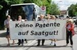Protest vor dem Europäischen Patentamt in München