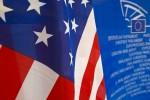 EU Parlament USA Flaggen