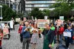Protest gegen Bierpatente vor dem Europäischen Patentamt München. (Foto: Frank Heller/Agentur argum)