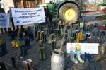 Gummistiefelaktion im Vorfeld zur Agrarministerkonferenz, Foto: A. Volling