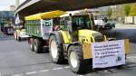 Landwirte führten den Protestzug gegen TTIP an. (c) Gerhardt/vip-pressefoto.de