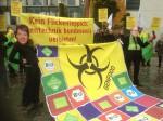Protestaktion gegen Gentechnikgesetz vor dem Kanzleramt Foto: Moewius