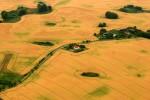 Luftaufnahme Landschaft Felder