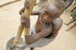 Undernourished girl