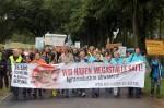 Demonstration gegen die Mastanlage in Haßleben 2014 (Foto: www.wir-haben-es-satt.de)
