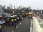 Traktoren blockieren die größte deutsche Molkerei, Foto: AbL