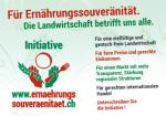 Plakat der Volksinitiative für Ernährungssouveränität